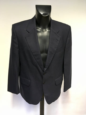AUSTIN REED NAVY BLUE LOCKTONS WOOL SUIT JACKET SIZE 40 S