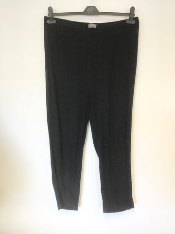 SAHARA DARK BLUE LINEN BLEND STRAIGHT LEG TROUSERS SIZE 14/16