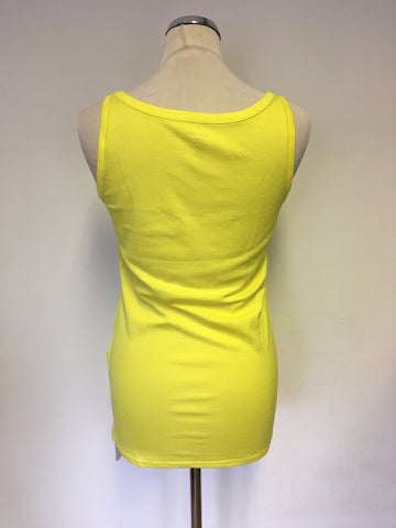 BRAND NEW MARCCAIN YELLOW VEST TOP SIZE N5 UK 14/16