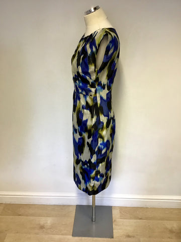 LONG TALL SALLY MULTICOLOURED PRINT DRESS SIZE 12