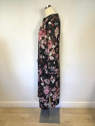 MODERN RARITY FLORAL PRINT LONG SLEEVE CALF LENGTH DRESS SIZE 12