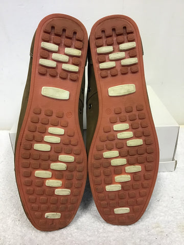 KURT GEIGER LIGHT BROWN MOLESKIN LEATHER LACE UP BOAT SHOES SIZE 9/43