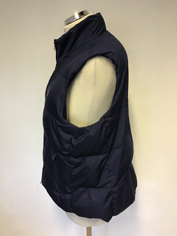 RALPH LAUREN NAVY BLUE DOWN FILLED BODY WARMER SIZE LARGE