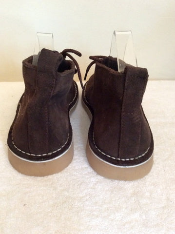 BRAND NEW BOUNCERS BROWN SUEDE DESERT BOOTS SIZE 8