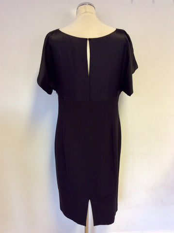COAST BLACK SILK TOP PENCIL DRESS SIZE 16