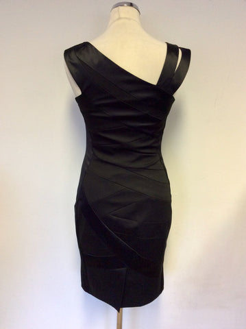 KAREN MILLEN BLACK ASYMETRIC NECKLINE SPECIAL OCCASION  DRESS