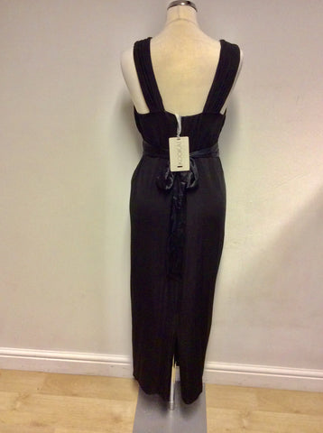 BRAND NEW KOOKAI BLACK LONG EVENING/ OCCASION DRESS SIZE 2 UK 10/12