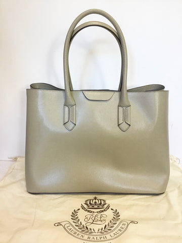 BRAND NEW RALPH LAUREN BEIGE LEATHER TOTE BAG