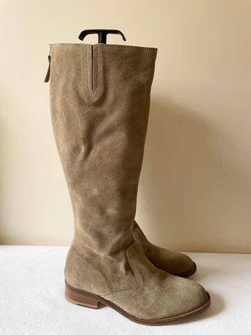 BODEN CAMEL SUEDE KNEE LENGTH BOOTS SIZE 6/39