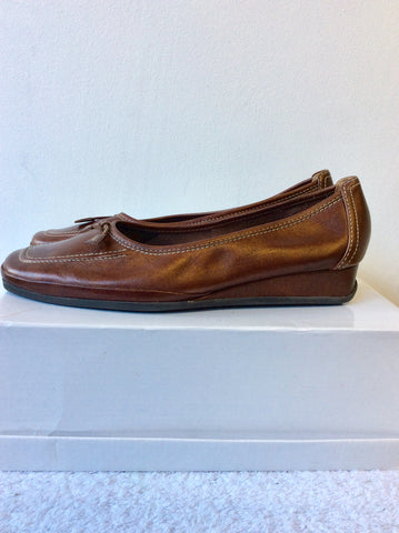 BRAND NEW VAN DAL BRONZE LEATHER COMFORT SHOES SIZE 7/40