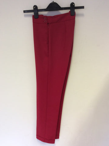 FRENCH CONNECTION RED CAPRI PANTS SIZE 8