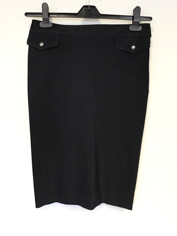 KAREN MILLEN NAVY BLUE PENCIL SKIRT SIZE 8