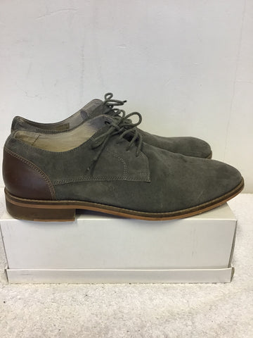 OFFICE GREY SUEDE & LEATHER HEEL LACE UP SHOES SIZE 9/43