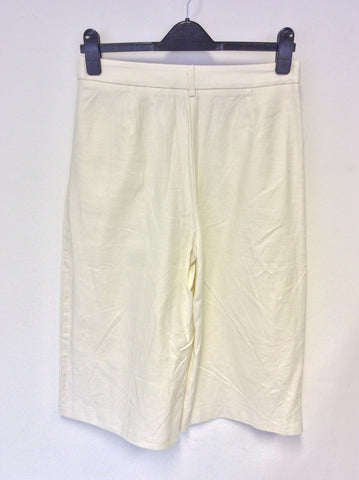 BRAND NEW MARKS & SPENCER IVORY LINEN RICH SHORTS SIZE 10