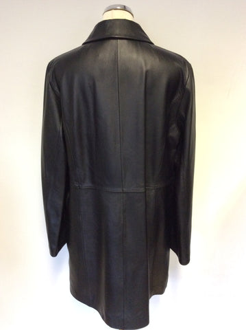 MARINA RINALDI BLACK GOAT LEATHER JACKET SIZE 21 UK 16/18