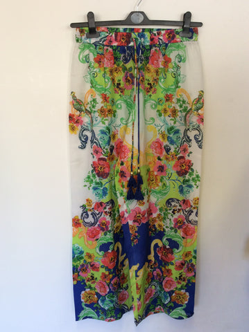 JET BY JESSIKA ALLEN MULTI COLOURED PRINT PILAGIO PANTS ONE SIZE
