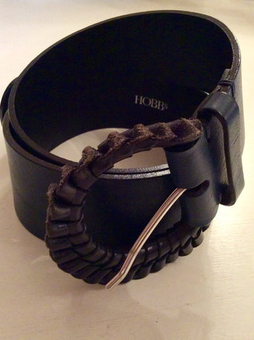 HOBBS TEAL LEATHER BELT SIZE S