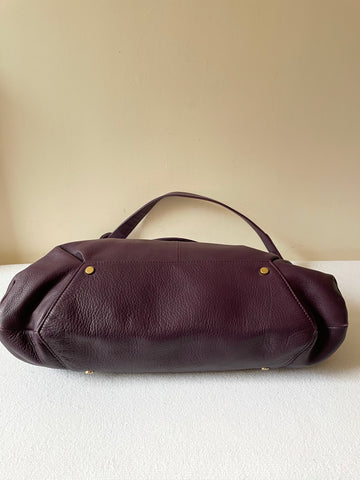 MODALU LONDON PURPLE LEATHER SHOULDER BAG