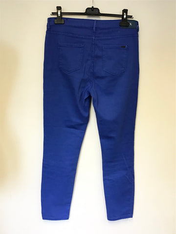 ARMANI EXCHANGE BLUE SUPPER SKINNY CROPPED JEANS SIZE 30