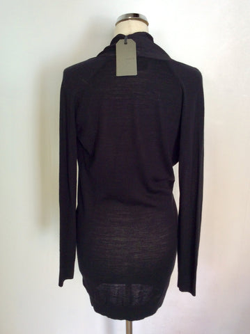 BRAND NEW ALL SAINTS BLACK KNIT ROLA PANEL DRESS SIZE S