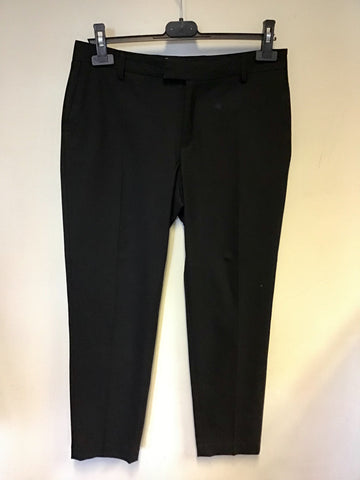 MARKS & SPENCER AUTOGRAPH BLACK CAPRI TROUSERS SIZE 10