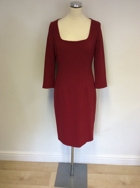BRAND NEW MAX MARA DEEP RED PENCIL DRESS SIZE 12