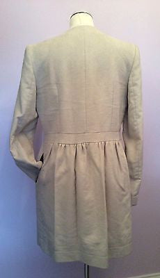 Joseph Cream Coat Size 42 Uk 12 - Whispers Dress Agency - Womens Coats & Jackets - 4