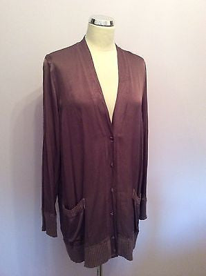 BRAND NEW GHOST BROWN BUTTON FRONT CARDIGAN/ TOP SIZE L - Whispers Dress Agency - Womens Tops - 1