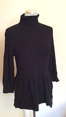 Brand New Marks & Spencer Black Polo Neck Jumper Size 16 - Whispers Dress Agency - Sold