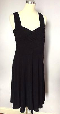 New With Defect Coast Black Pleated Top Dress Size 12 - Whispers Dress Agency - Womens Dresses - 1