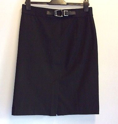 Brand New With Tags Ralph Lauren Black Gwyneth Straight Skirt Size UK 10 - Whispers Dress Agency - Womens Skirts - 1