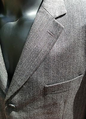 Smart FCUK Formal Grey Pinstripe 100% Wool Suit Size 44R/38W - Whispers Dress Agency - Mens Suits & Tailoring - 5