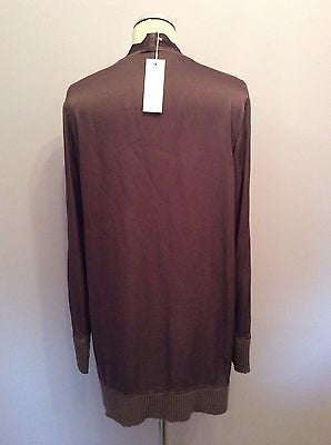 BRAND NEW GHOST BROWN BUTTON FRONT CARDIGAN/ TOP SIZE L - Whispers Dress Agency - Womens Tops - 3