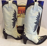 Sancho Black & White All Leather Cowboy Boots Size 6/39 - Whispers Dress Agency - Sold - 3