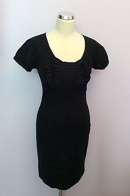 74d13dc0f Ted Baker Black Pleated Front Pencil Dress Size 1 UK 10 – Whispers Dress  Agency