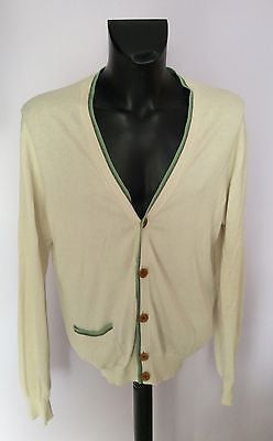 Paul Smith Cream V Neck Cotton Cardigan Size XXL - Whispers Dress Agency - Sold - 1