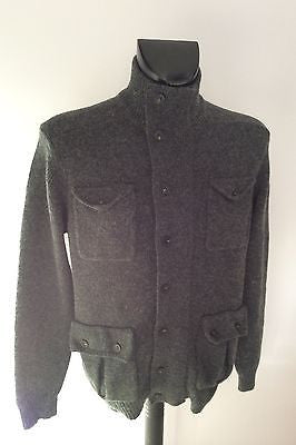 French Connection Dark Grey Zip & Button Fasten Front Cardigan Size M - Whispers Dress Agency - Mens Knitwear - 2
