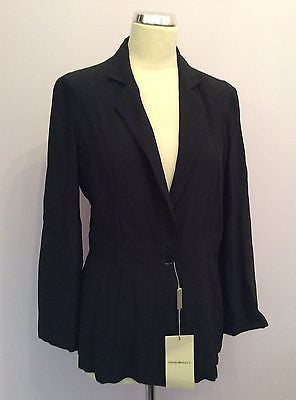 Brand New With Tags Emporio Armani Black Fitted Jacket Size 44 UK 12 - Whispers Dress Agency - Sold - 1