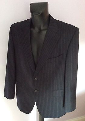 Smart Daks Black Pinstripe Wool Suit Jacket Size 44S - Whispers Dress Agency - Mens Suits & Tailoring - 1