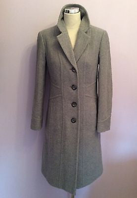 Marks & Spencer Grey Wool & Cashmere Blend Coat Size 10 - Whispers Dress Agency - Sold - 1