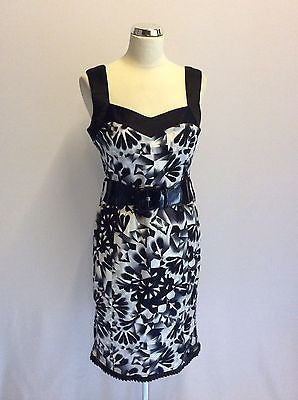 Star By Julien Macdonald Black & White Print Cotton Dress Size 10 - Whispers Dress Agency - Womens Dresses - 1