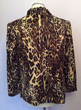 New Viyella Brown Leopard Print Short Faux Fur Feel Jacket Size 14 - Whispers Dress Agency - Womens Coats & Jackets - 2