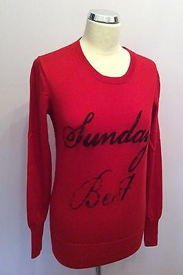 Brand New Markus Lupfer Red Merino Wool Sunday Best Jumper Size XS - Whispers Dress Agency - Sold - 1