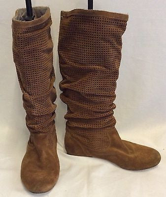 Ugg Tan Brown Suede Slouch Knee High Boots Size 7 5