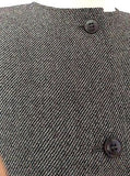 Valentino Grey / Black Blend Weave Collarless Jacket Size 44 UK 14 - Whispers Dress Agency - Sold - 4