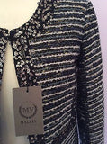 Brand New Malvin Black & Ivory Sequined Trim Jacket Size 12 - Whispers Dress Agency - Sold - 2