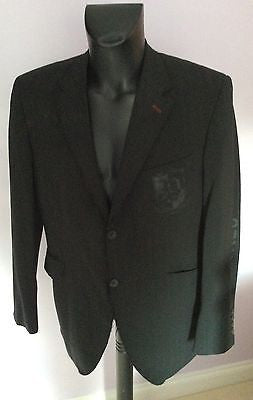 Parkes Black Pinstripe Wool Suit Embellished Jacket Size L - Whispers Dress Agency - Mens Suits & Tailoring - 1