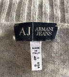 Armani Jeans Light Grey Sleeveless Knit Top & Matching Quirky Cardigan Size 10 - Whispers Dress Agency - Sold - 7
