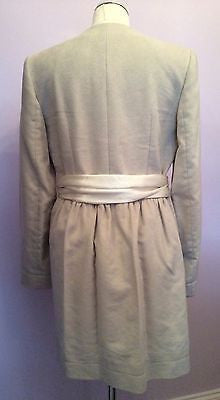 Joseph Cream Coat Size 42 Uk 12 - Whispers Dress Agency - Womens Coats & Jackets - 2
