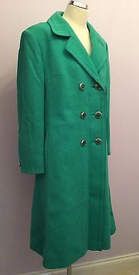 Vintage Berghaus International Emerald Green 100% Wool Coat Size 44 UK 14 - Whispers Dress Agency - Sold - 1